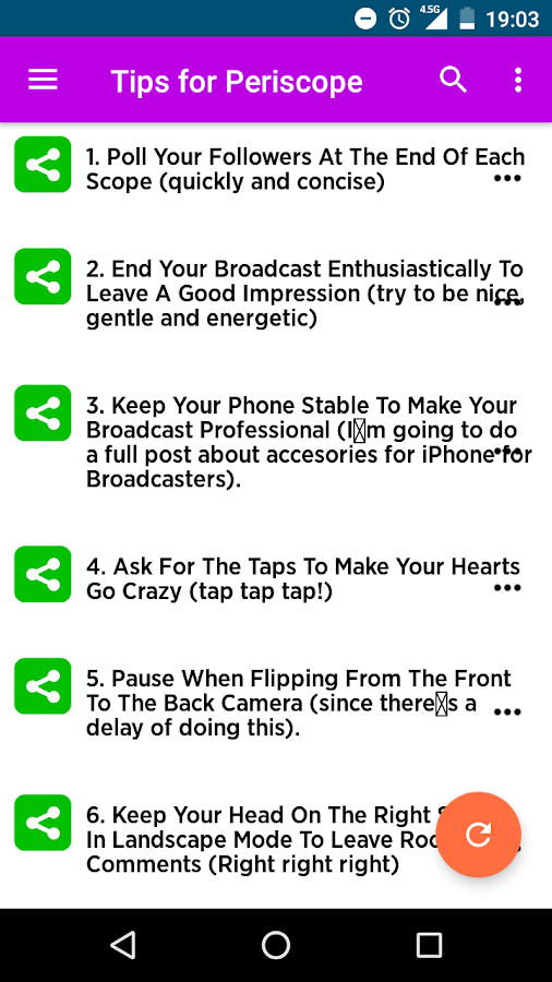 Tips for Periscope- screenshot