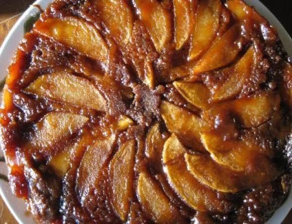 Apple Upside-down Gingerbread Cake