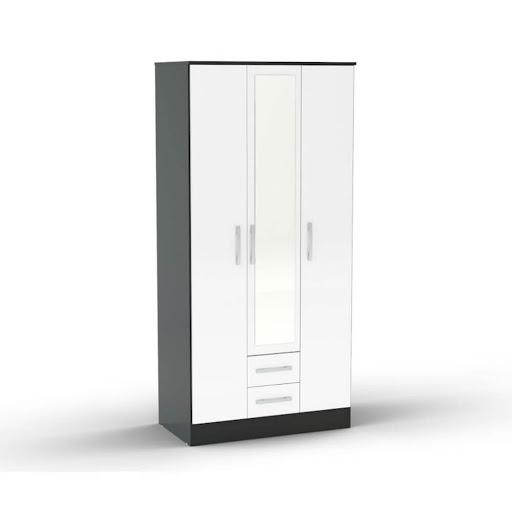 Birlea Lynx Black & White Bedroom Furniture