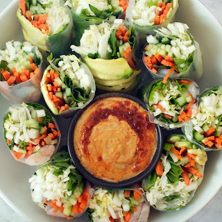 Vietnamese Spring Rolls with Spicy Almond Dipping Sauce Recipe