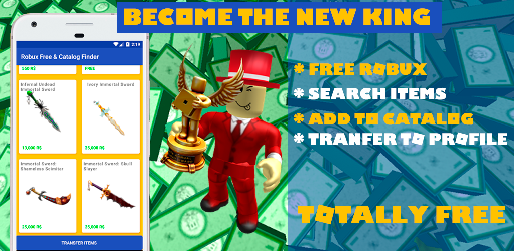 Download Robux Free tips and Catalog Items finder – 2018 APK