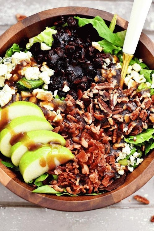 Click Here for Recipe: Apple, Bacon and Gorgonzola Salad with Sweet Balsamic Vinaigrette