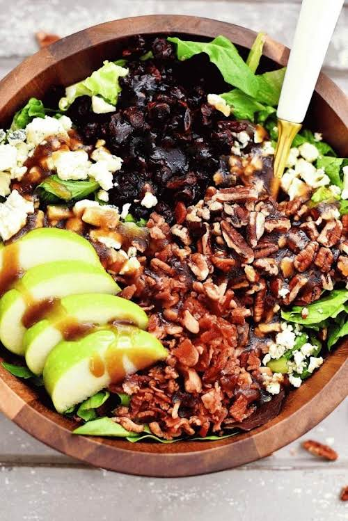 Click Here for Recipe: Apple, Bacon and Gorgonzola Salad with Sweet Balsamic...