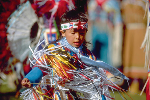 Rodeo-Kid.jpg -   A Native American boy in ceremonial dress at the Pendleton Roundup in Pendleton, Ore.