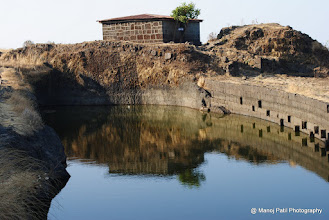 Photo: Chandrakor Talav on Rajgad Balle killa