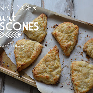 Lemon Ginger Yogurt Scones