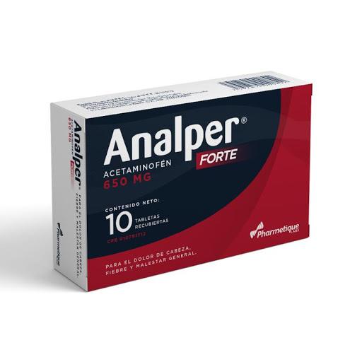 Acetaminofen Analper Forte 650 mg 10Tabletas Pharmetique Consumo