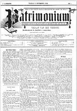 Foto: Het eerste nummer van 'Patrimonium', het orgaan van het gelijknamig Chr. Werkliedenverbond, onder hoofdredaktie van Klaas Kater.