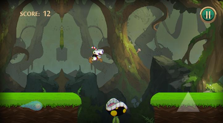 "Angry Cuphead -  Adventure Game "" Jump & Shooter"" - screenshot"