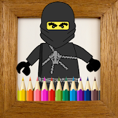 Kids Coloring Book Ninja