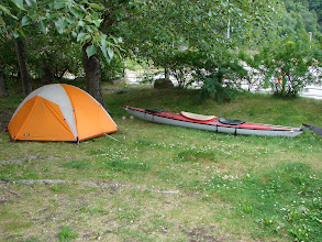 Photo: My last campsite at the Pullen Creek Campground in Skagway Alaska.