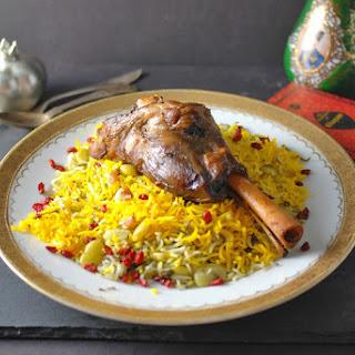 Lamb Shanks & Herbed Basmati Rice with Fava Beans