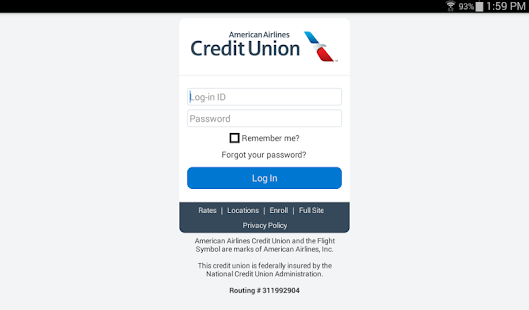American Airlines Credit Union Android Apps On Google Play