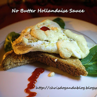 Fried Egg and Toast with No Butter Hollandaise Sauce