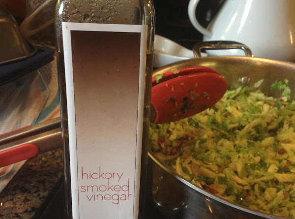 Shake about a teaspoon of the hickory smoked vinegar onto the mixture and mix....