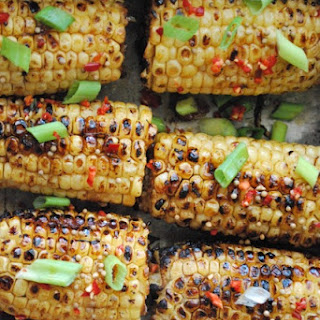 Spicy Hoisin and Sesame Glazed Corn.