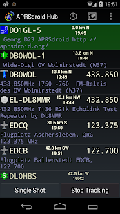 APRSdroid - APRS-Client Screenshot