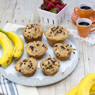Banana Nut Muffins with Crumble Topping