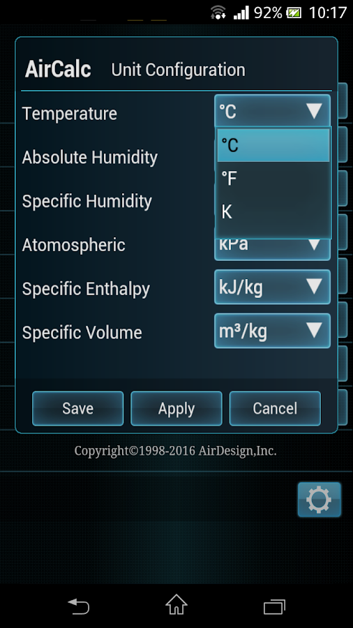 AirCalc for Android- screenshot