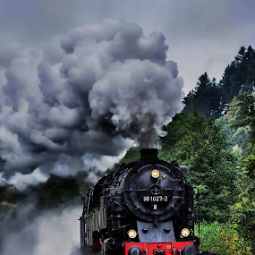 The Train! by Olaf Pohling - Transportation Trains ( steamtrain, old, steamloc, train, germany, steam )