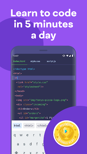 Mimo: Learn coding in JavaScript, Python and HTML Apk 1