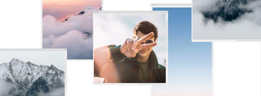 Cloud & Sky Window - Facebook Personal Cover Template