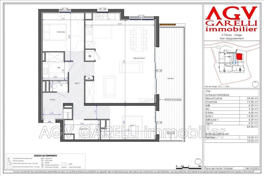 Vente appartement 3 pièces 84.96 m² à Toulon (83000), 545 000 €