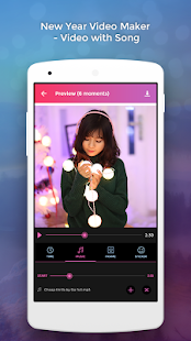 New Year Video Maker - Video with Song - náhled