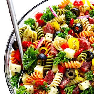 Rainbow Antipasto Pasta Salad.