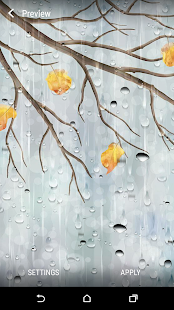 Deštivé den Živá Tapeta - náhled