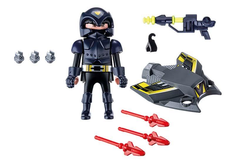 Contenido Real de Playmobil® 9086 Espía con Jet