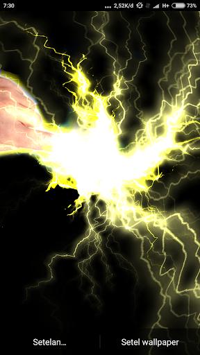 Electrical Lightning Touch Thunder Live Wallpapper screenshot 6
