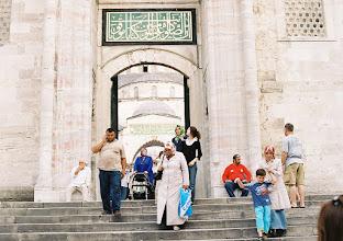 Photo: Kék bejárat