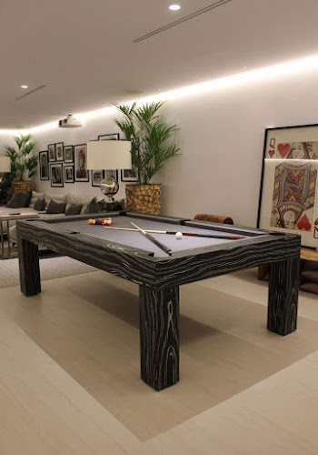 Basement gamesroom with 8ft Apex Pool Table