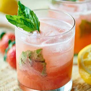 Strawberry Basil Gin Cocktail.