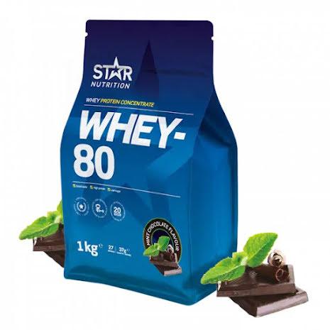 Star Nutrition Whey 80 1kg - Mint Chocolate