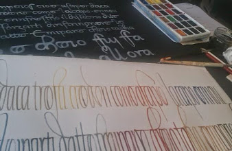 Photo: Pendant un stage de calli avec massimo Polello ---- While a calligraphy workshop with Massimo Polello