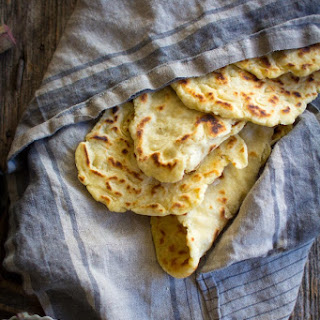 Gluten Free Roasted Garlic Naan