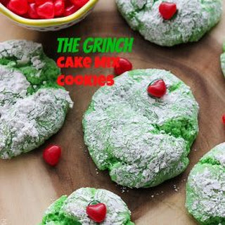 The Grinch Cake Mix Cookies.