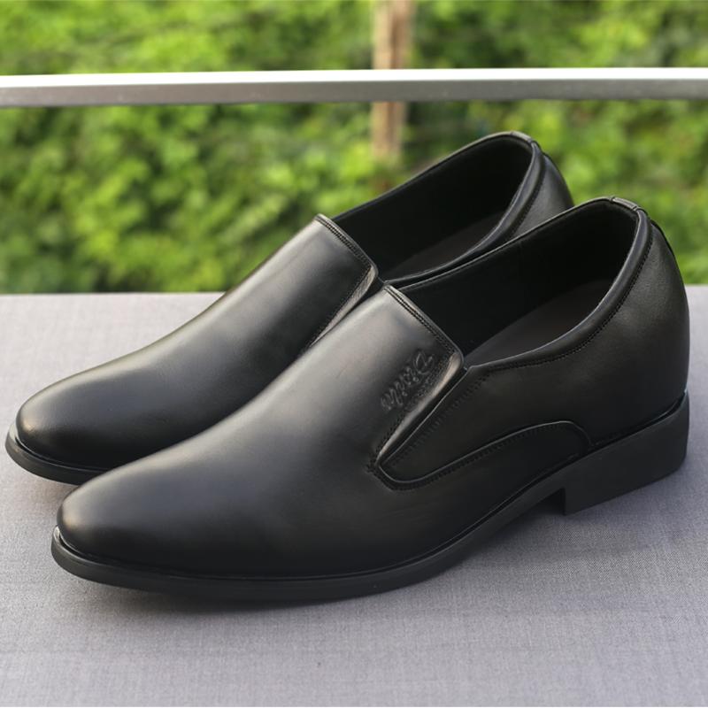 Giày tăng chiều cao da bò thật TC09