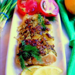 Russian Baked Cod Fillet with Pesto