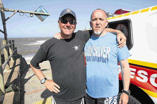 Scuba divers Roland Mauz and Stuart Skene survived a three-and-a-half hour ordeal separated from their boat and drifting further out to sea Picture: THILU DLAMINI