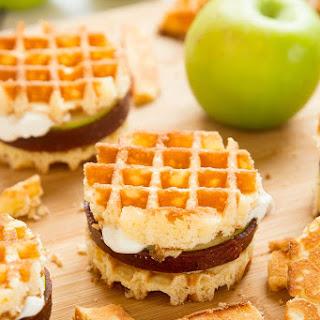Waffle apple burgers! A kid-friendly, fruity, gluten-free dessert.