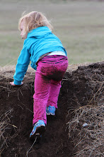 Photo: Young visitors still like the dirt piles best.
