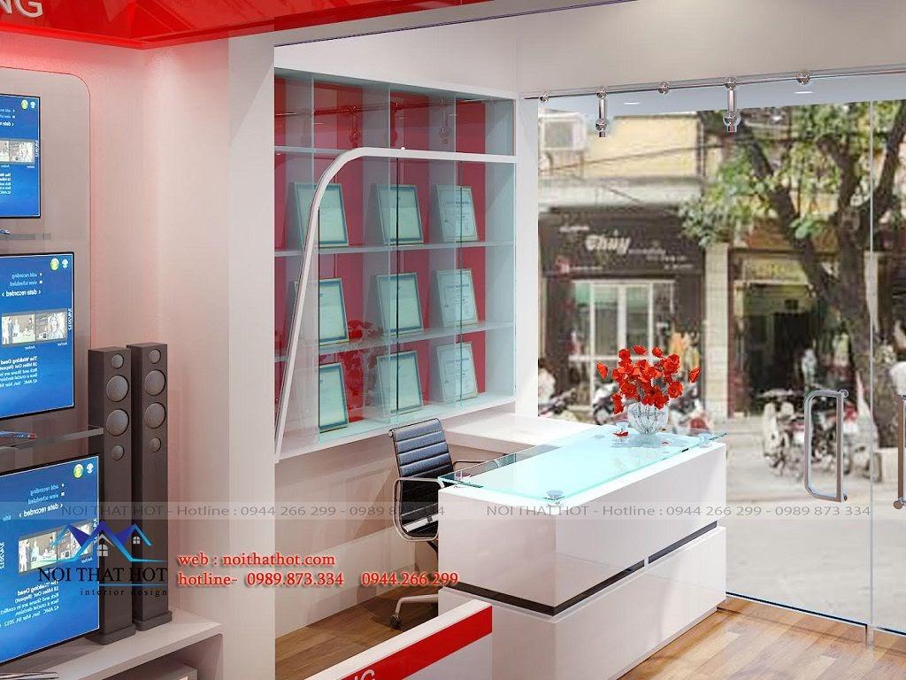 thiết kế cửa hàng điện máy diện tích 75m2 tại Sơn La