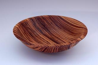 "Photo: Richard Webster - Striped Bowl - 2"" x 8"" - Zebra wood"
