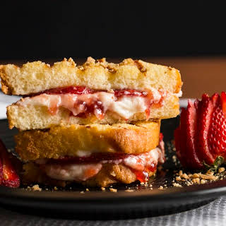 Grilled Strawberry Cheesecake Sandwich.