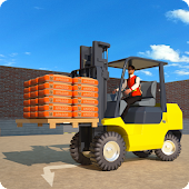 Forklift Games: Rear Wheels Forklift Driving
