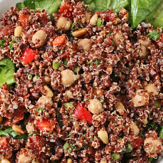 Scarlet Quinoa Salad with Chickpeas and Tahini Dressing Recipe