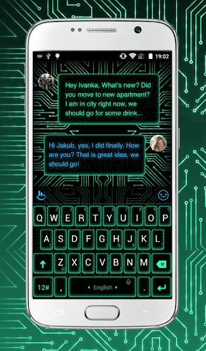 Electric Neon Keyboard Theme